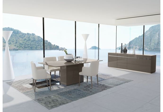 Mediale Rectangular Fixed Top Dining Table