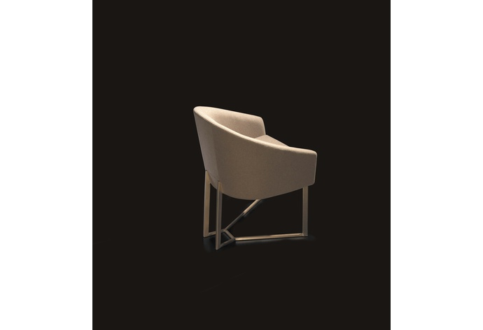 Iland Calas Dining Chair with Metal Legs