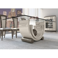Avantgarde Glamour Glass Top Dining Table