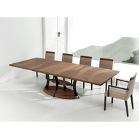 Artisan Walnut Rectangular Extension Dining Table