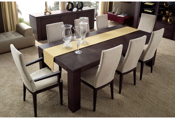 Eros Rectangular Fixed Top Dining Table
