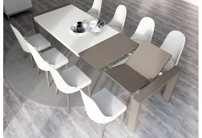 Sliding Rectangular Extension Dining Table